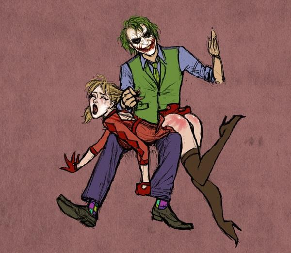 Fessée chez les super héros : Le joker