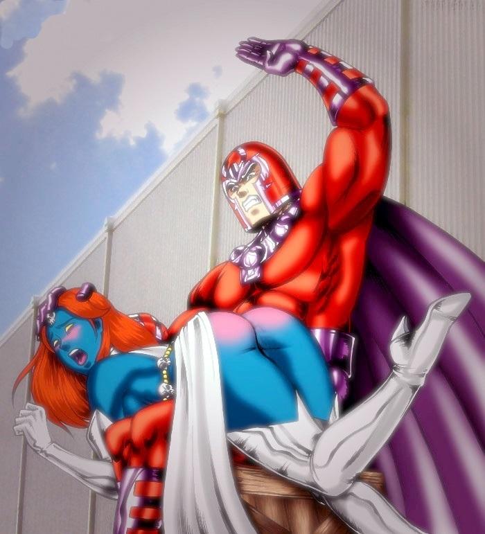 Fessée chez les super héros : magneto et mystique