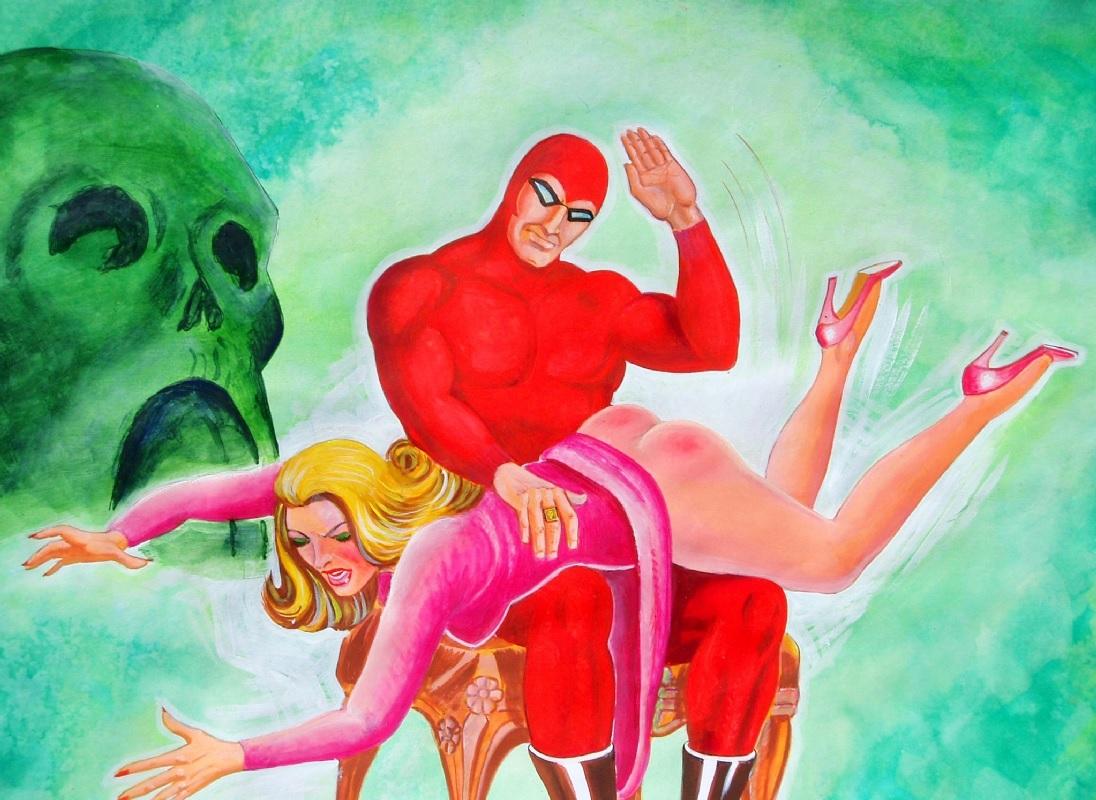 Fessée chez les super héros : phantom et quinn pera