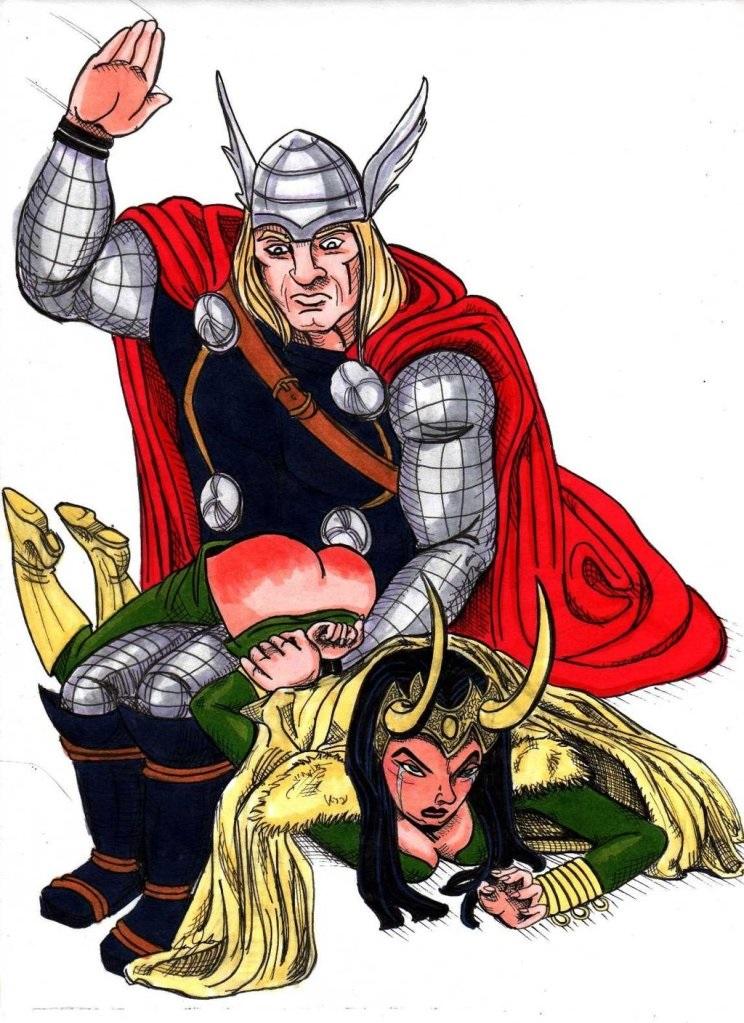 Fessée chez les super héros : Thor