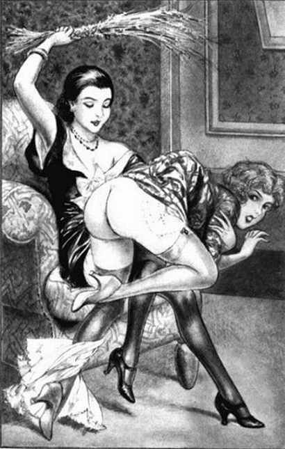Chéri Hérouard, Dessin, Noir et blanc, vintage, OTK, F/F, Birch