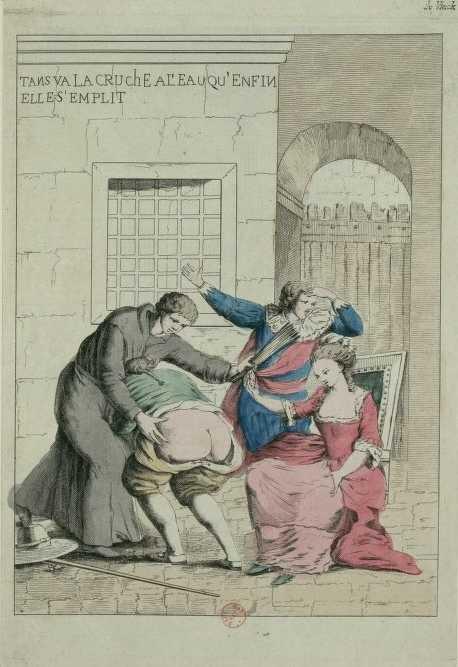 Illustration Complainte sur la fessée de Beaumarchais