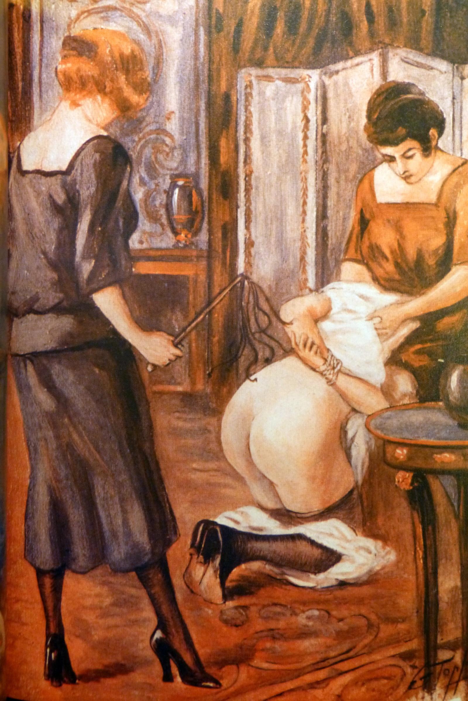 George Topfer Noir et blanc F/F Martinet A genoux peinture Couleur