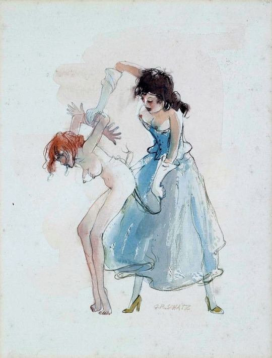Otto Rudolf Schatz Dessin Aquarelle F/F Martinet peinture